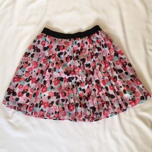 Kate Spade New York. Girls Pleated Floral Skirt 10